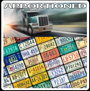 Apportioned Truck and Trailer License Plates