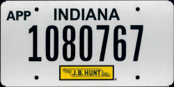 Indiana Apportioned License Plate