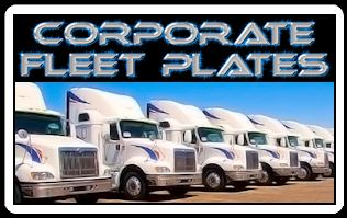 Corporate Fleet License Plates